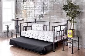 Daybeds With Trundles Industrial Pipe Like Antique Black Daybed With Trundle