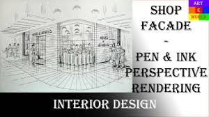 40 pen ink manual rendering 2 point interior design 40 pen ink manual rendering 2 point interior design perspective drawing tutorial youtube