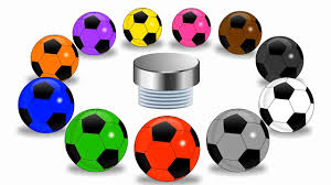 colors for children to learn with soccer balls learn basic color