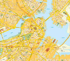 United States City Map by Map Boston Ma City Center Massachusetts Usa Central Downtown