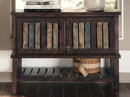 Accent Console Table Ashley T580 Mestler Rustic Distressed Accent Console By Ashley