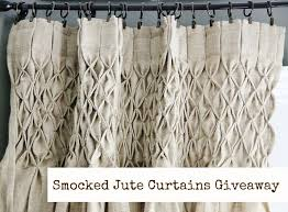 Burlap Drapery Burlap Curtain How To Smock Curtains With Thistlewood Farms