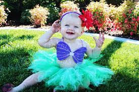 Ariel Mermaid Halloween Costume Mermaid Tutu Girls Tutu Birthday Tutu Sewn 11