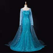 Queen Elsa Halloween Costume Aliexpress Buy Queen Princess Elsa Halloween Dress