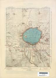 Oregon Lakes Map by Crater Lake Cartography Pinterest Crater Lake Lakes And