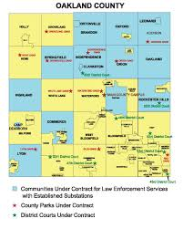 Cities In Michigan Map by Oakland County Sheriff U0027s Office Substations Sheriff