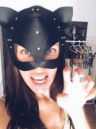 leather mask cat for woman item gift present