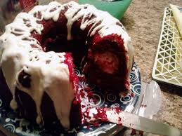 red velvet bundt cake with a cream cheese filling kayla kakes