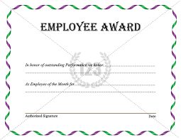 best employee award template download now