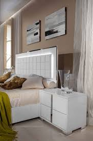 san marino modern white bedroom set stage design