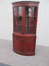Used Corner Curio Cabinets For Sale Corner China Cabinet Ebay