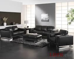 furniture cute home paris 1 contemporary black leather living