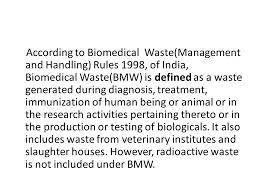 bmw hospital hospital waste management ppt