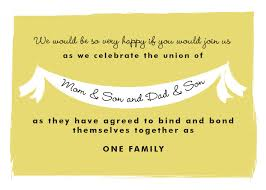 invitation wording this invitation wording for your own blended family wedding