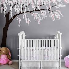 Cherry Blossom Tree Wall Decal For Nursery Cherry Blossom Wall Decal With Baby Nursery Wall Stickers With