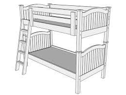Bunk Bed Drawing B108 Xl Bunk Bed The Bunk Loft Factory