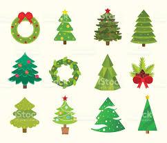 tree icons set tree vector new year tree
