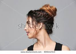 grey hairstyles for young women hairstyle stock images royalty free images vectors shutterstock