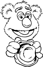 the muppets good fozzie bear coloring pages wecoloringpage