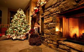 download wallpaper 3840x2400 christmas tree ornaments fireplace