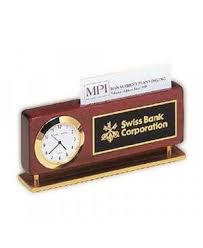 custom desk clock awards engraved fast name tag wizard
