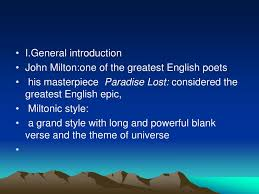 On His Blindness John Milton Meaning Ppt John Milton 1608 1674 Powerpoint Presentation Id 172835
