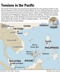 China Sea Map by South China Sea Has Become Flashpoint Between American Status Quo