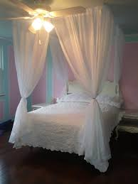 Shabby Chic Voile Curtains Diy Bed Canopy Kit Custom Shabby Ceiling Suspended Hanging