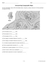 reading a topographic map worksheet free worksheets library
