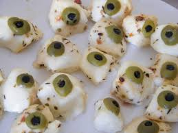 the olive and mozerella eyeballs worked brilliantly halloween 2