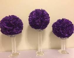 Purple Wedding Centerpieces Wedding Flower Balls Etsy