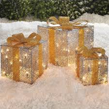 pre lit christmas gift boxes set of 3 splendor gift boxes brylanehome