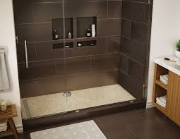 Shower Base Kits Redi Trench Shower Pan 48 X 72 Left Trench Drain Single Curb