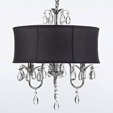 Ceiling Chandelier Black Drum Shade Crystal Chandelier Pendant Light Ceiling