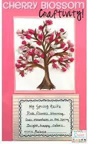 Cherry Blossom Facts by Freebie Tranquil Cherry Blossom Tree Sakura Haiku Craftivity My