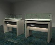 display case led lighting systems high end stainless steel jewelry showcase 品牌珠寶店設計