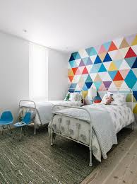 Creative Accent Wall Ideas For Trendy Kids Bedrooms Shared - Creative painting ideas for kids bedrooms