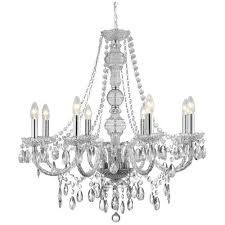 Clear Acrylic Chandelier Searchlight Therese 8 Light Clear Acrylic Chandelier 8888