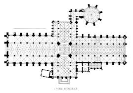 medieval york minster interior floorplan dehio plate 425 screen sized image large