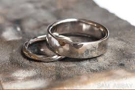mens hammered wedding bands wedding rings made by sam abbay s customers