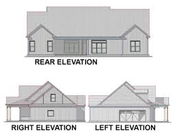 Farmhouse Elevations by Country Style House Plan 4 Beds 3 00 Baths 2456 Sq Ft Plan 63 270