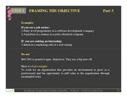 Example Of Objectives In A Resume by Smartest Resume Guide For Students And Freshers