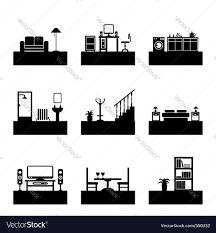 home interior vector home interior royalty free vector image vectorstock