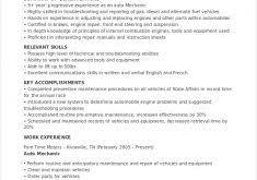 Auto Mechanic Resume Template Unbelievable Auto Mechanic Resume 9 Mechanic Resume Template