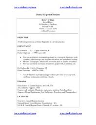 dental hygiene objective in resume resume template example