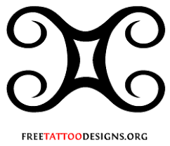 zodiac gemini symbol in star tattoo design in 2017 real photo