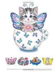 teacup kittens coloring book kayomi harai 9781497202269 amazon