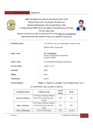 curriculum vitae format for freshers pdf fascinating mca fresher resume format pdf exle freeownload in