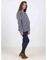 navy blouse navy blouse with white lines maman jules et léa
