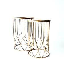 gold metal side table amazon com rivet bristol natural edge black metal side table in